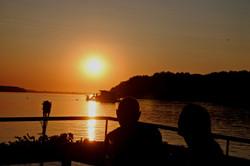 Zalazak sunca na Dunavu