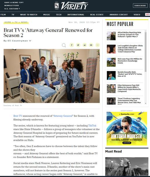 Attaway General on Variety Magazine