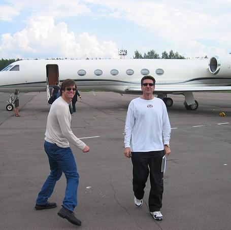 Kerry, Jolie e altre star con un jet privato