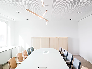 Tunto lighting forms an intergral part of the interior at Finland's Permanent Representation to the European Union in Bruxelles, Belgium