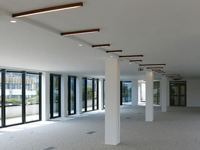 Le Barjac Office With A New Linear Lighting System