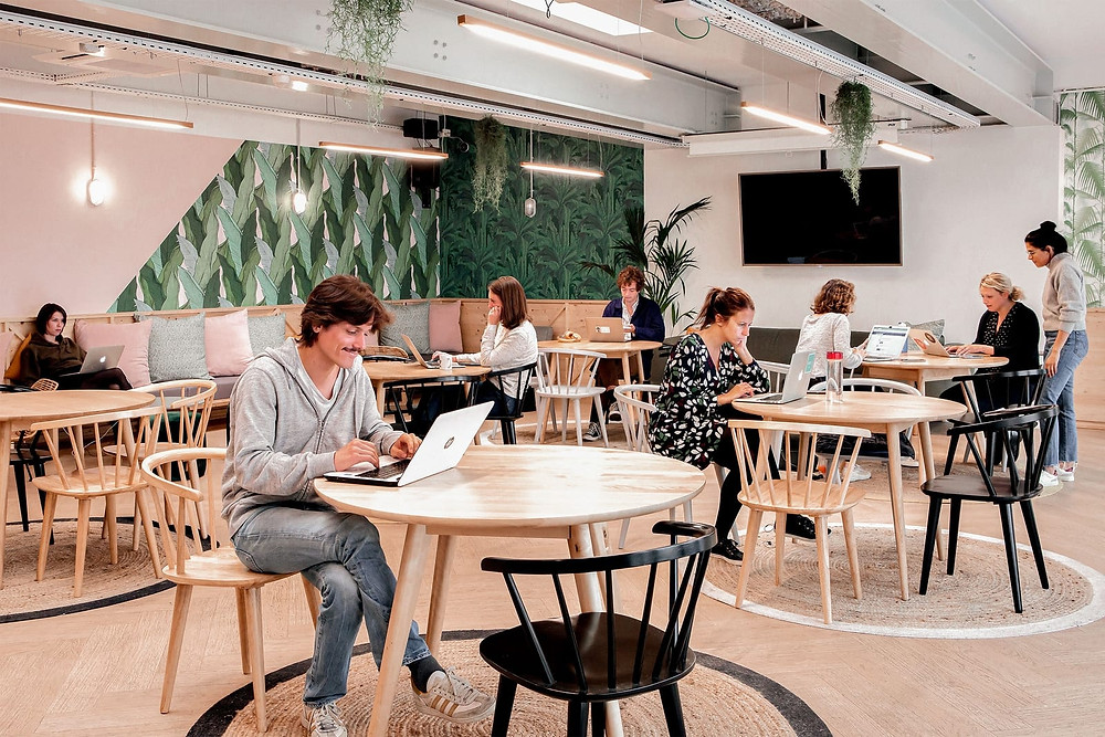 LED40 Pendant Lamps at Coworking Space in Paris