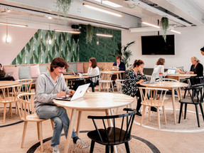 Morning Coworking Spaces Illuminated with Tunto Lights