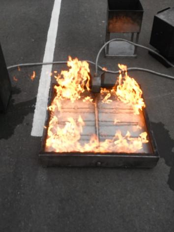 Liquid fire simulation