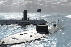 Civil War Ironlads Ocean Test Render