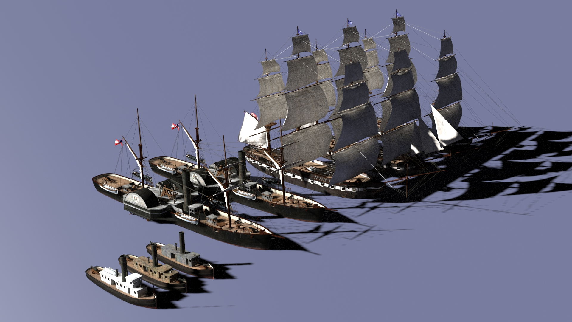 Preparing Hampton Roads Ship Models
