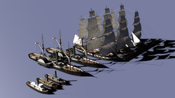 Preparing Hampton Roads Ship Models