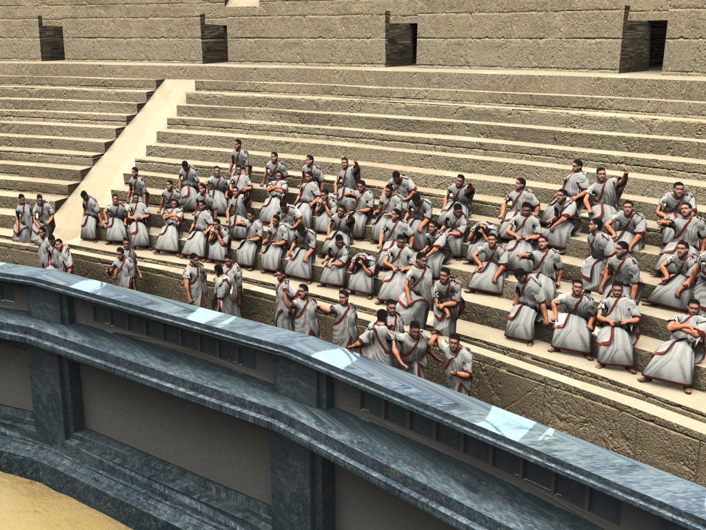 Roman Colosseum Crowd Poses