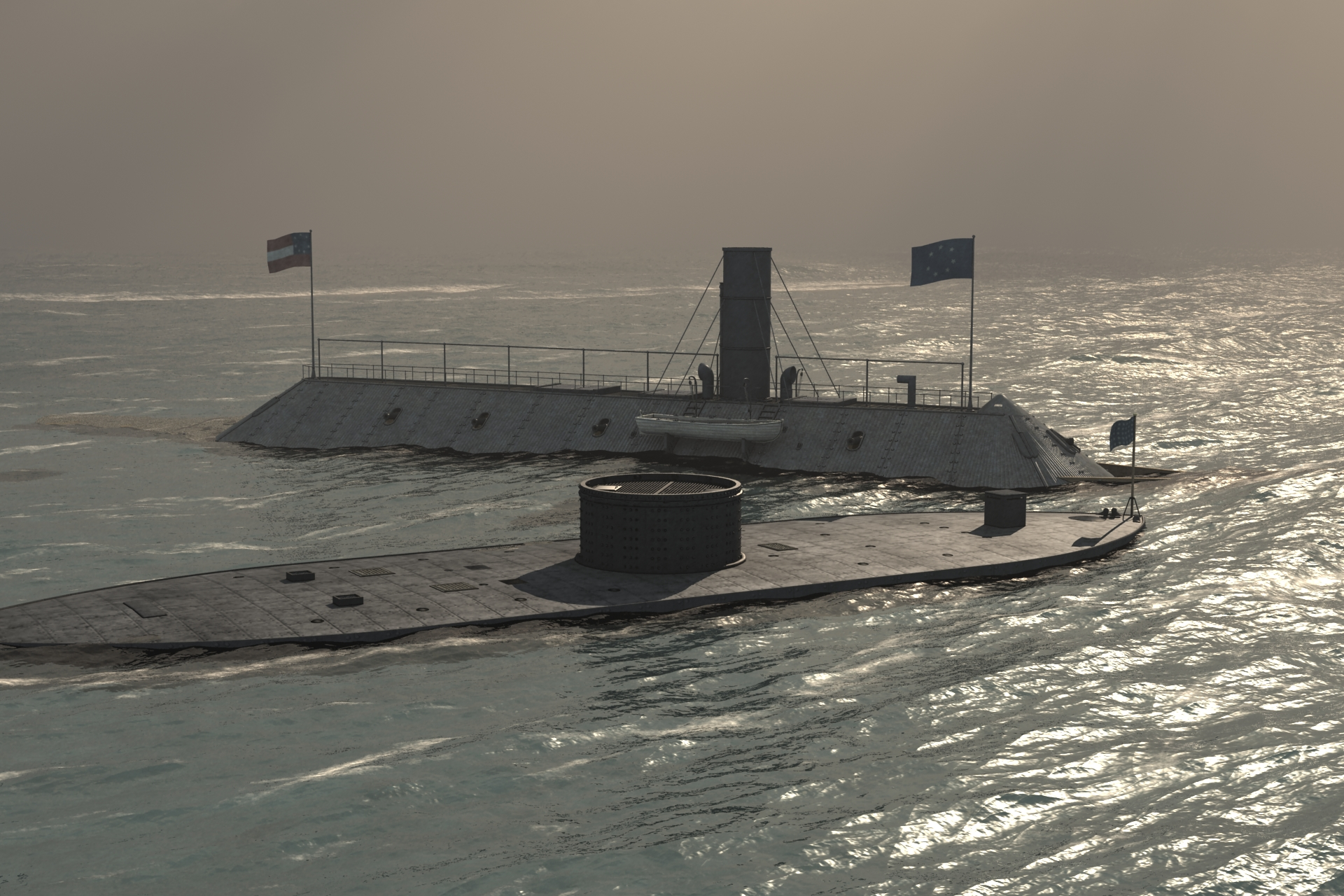 Civil War Ironclads Test Render