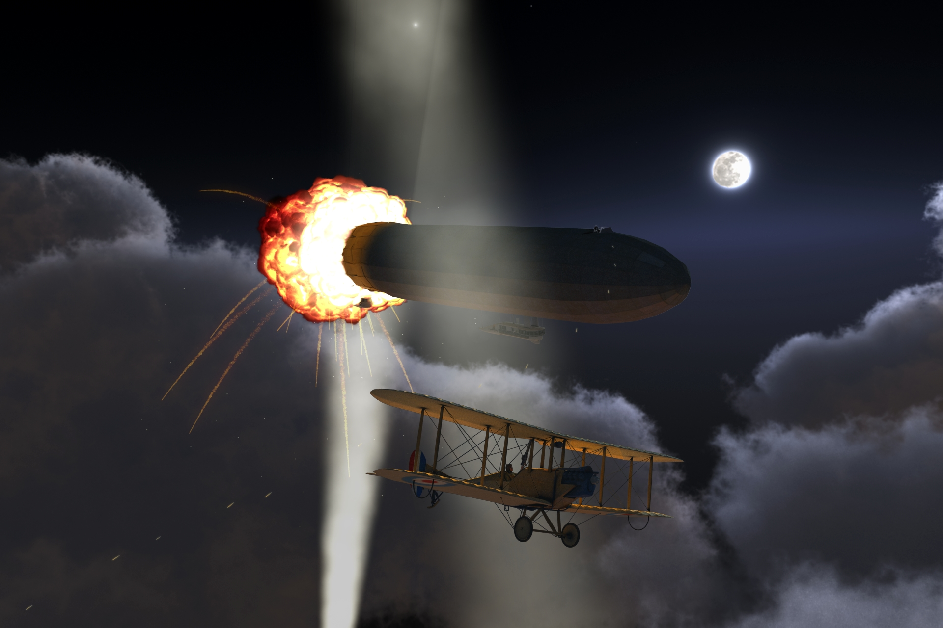 Zeppelin in Flames