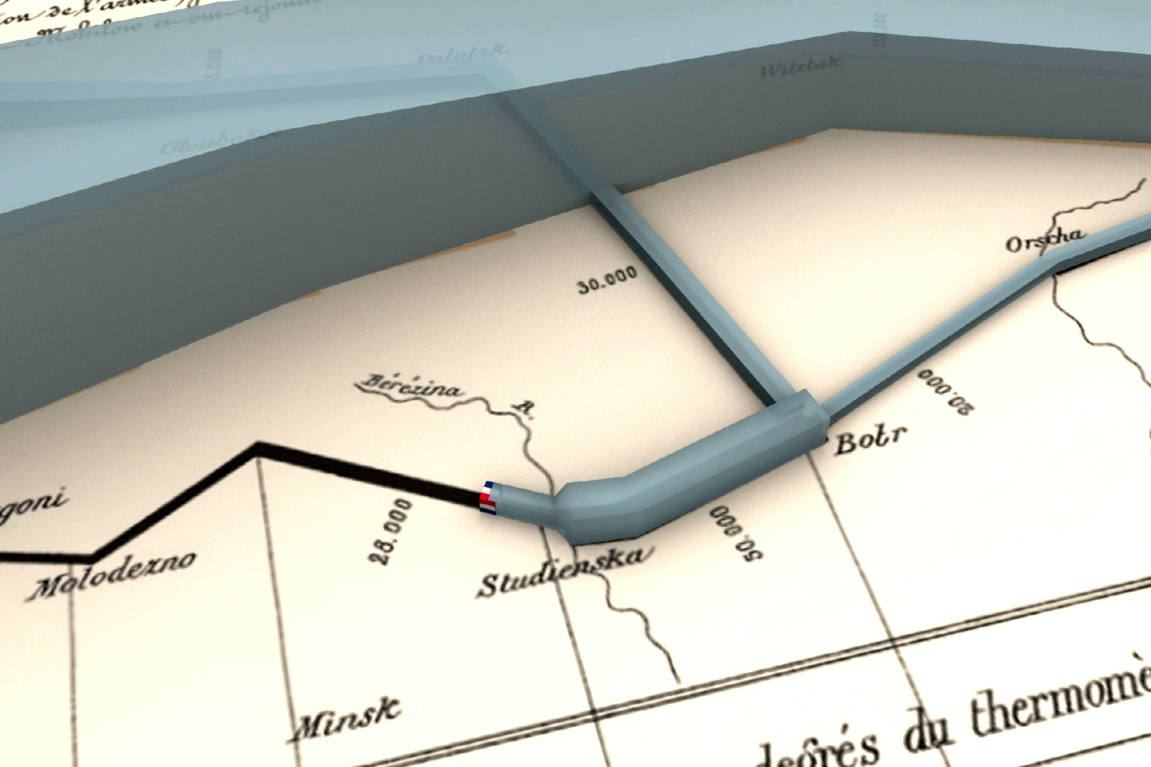 3D Version of Charles Minard's Map