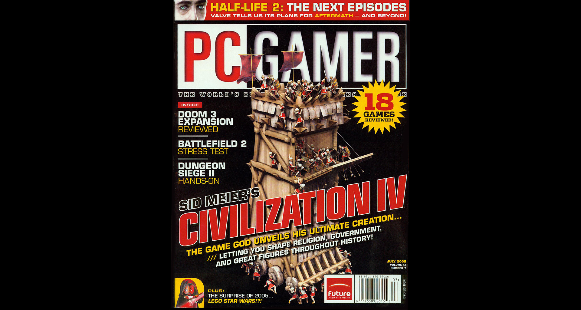 Siege Tower on the Cover of PC Gamer