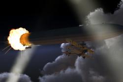 Zeppelin in Flames