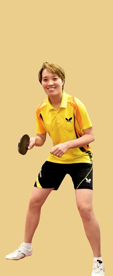 a picture of the coach Yoku with table tennis paddle