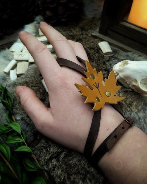 The Maple Leaf Wrap Bracelet