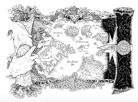 Large black and white map. Poster. Digital file.