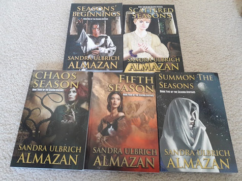 Paperback Copies of my fantasy novels