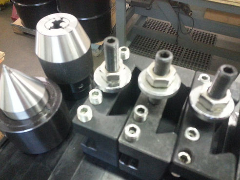 lathe tail stock center, chuck and tool post holders, industrial automation in Dallas Texas