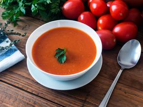 מרק עגבניות שרי (תמר) צלויות