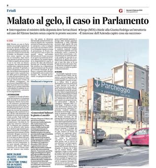 Malato al gelo, il caso in Parlamento