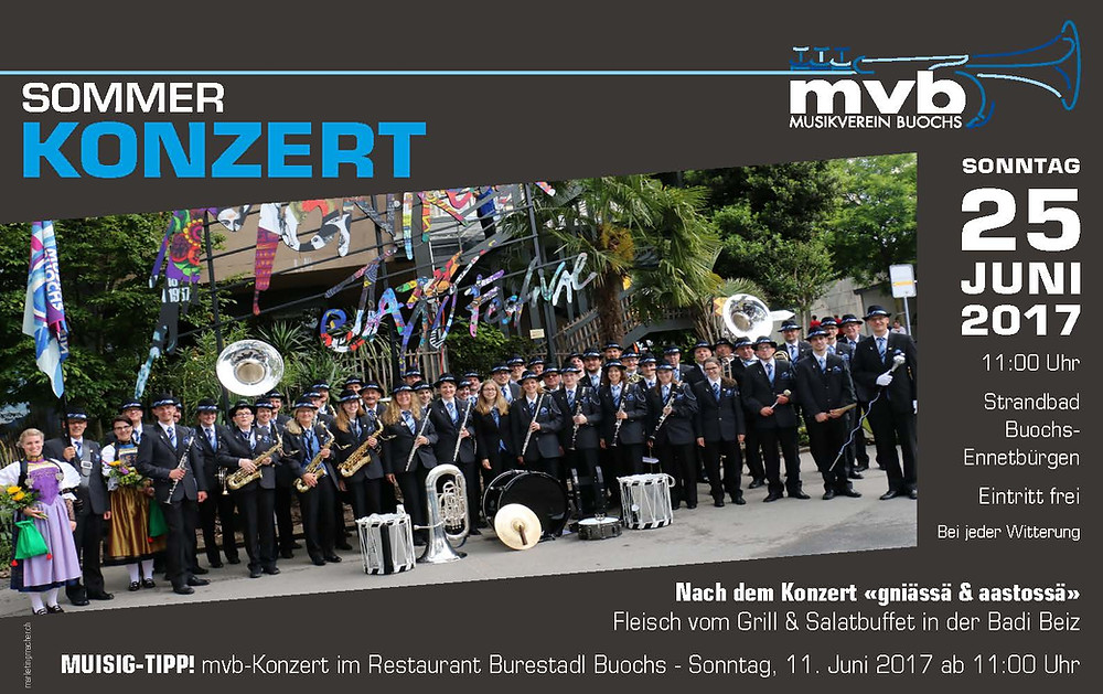 Sommerkonzert Musikverein Buochs