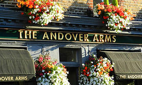 An outside shot of the Andover Arms pub