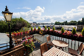 Balcony view from The Dove over The River Thames