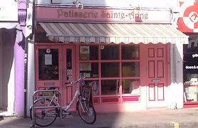 Shop window of Patisserie Sainte Anne