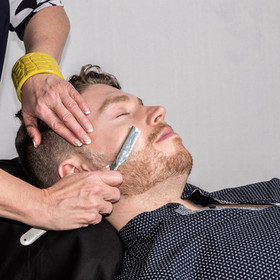 Hot towel face shave