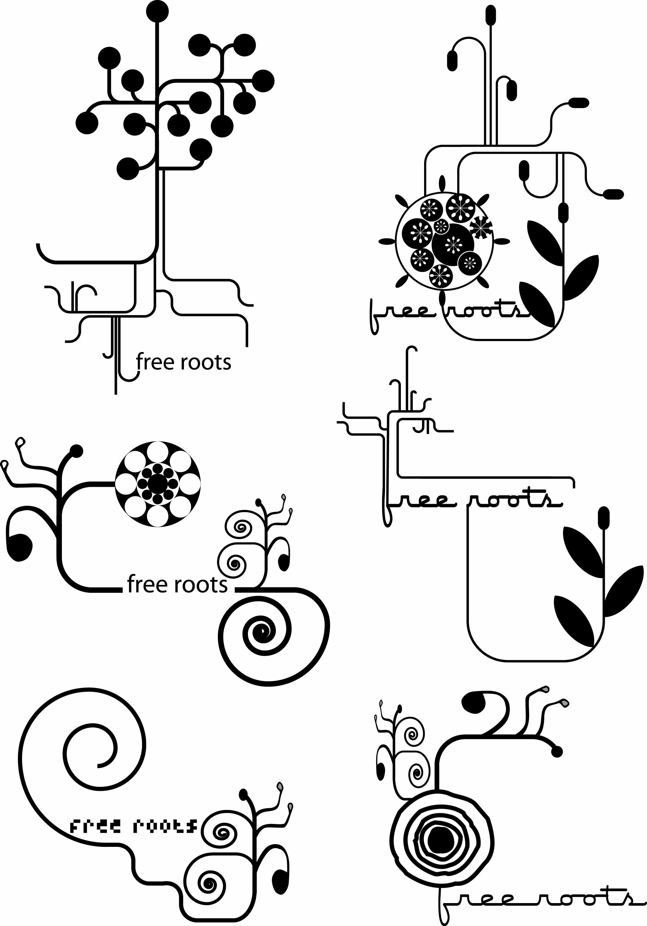 ▲ Free roots logo ▲
