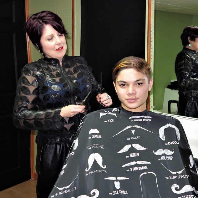 Men's hair cuts and custom colours
