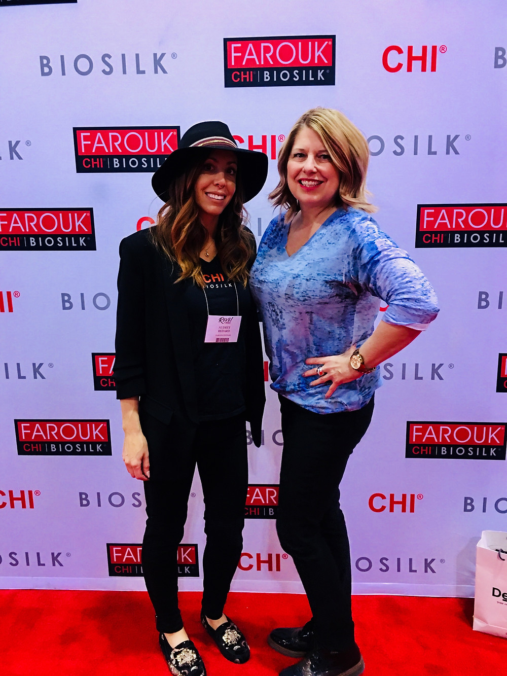 Tracy Strycker - solo stylist + Salon Allegra owner with the Chi rep from Montreal.