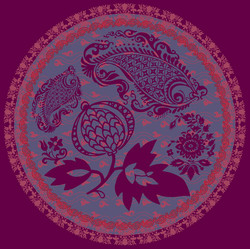 "▲ Placé textile ""folk"" ▲"