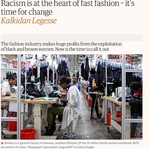 Racism is at the heart of fast fashion - its time for change