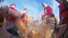 Tidal bore white water rafting