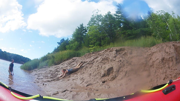 Mud Sliding while Tidal Bore Rafting