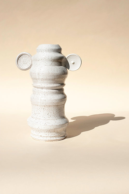 TALL Glossy White Vase