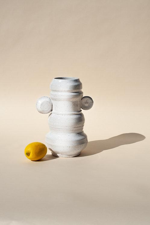 Medium Satin White Vase