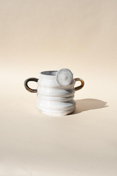 MEDIUM Glossy White Vase