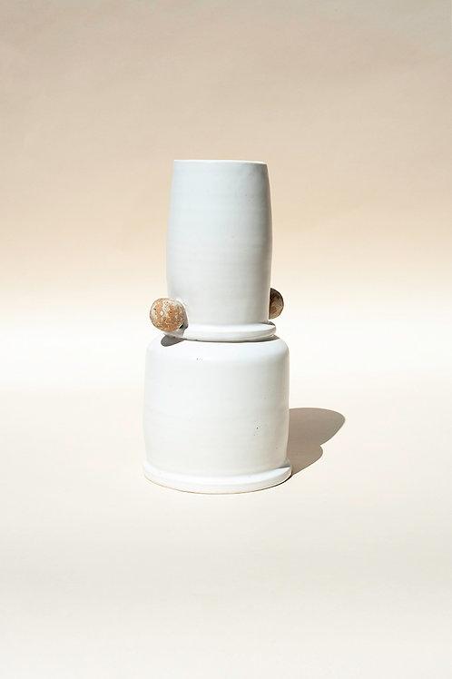 Tall Matt White Vase