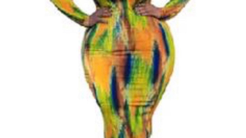 Curvy Abstract dress