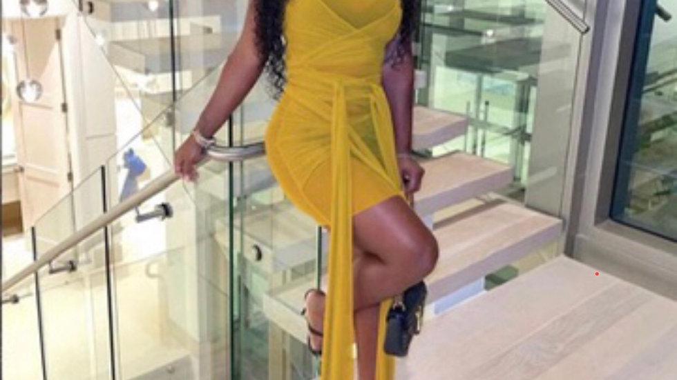 """Ariel""Dress (Yellow)"