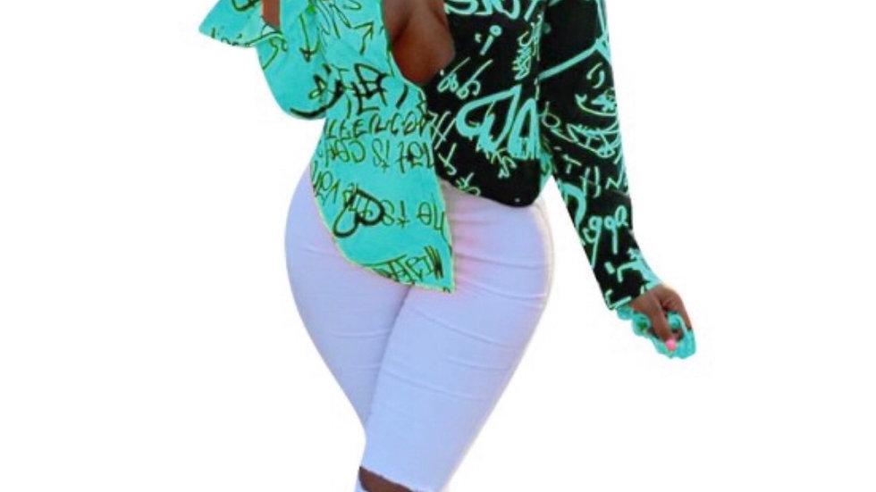 Print up blouse