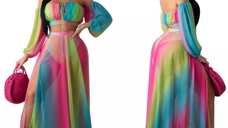 Angelica Rainbow Two Piece Set