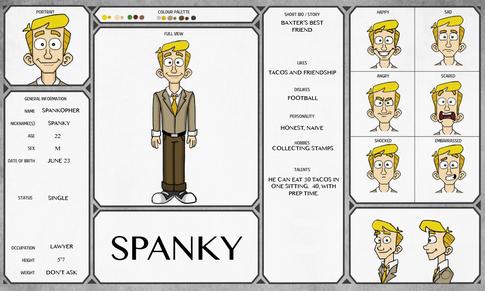 """Spanky"" Model sheet"