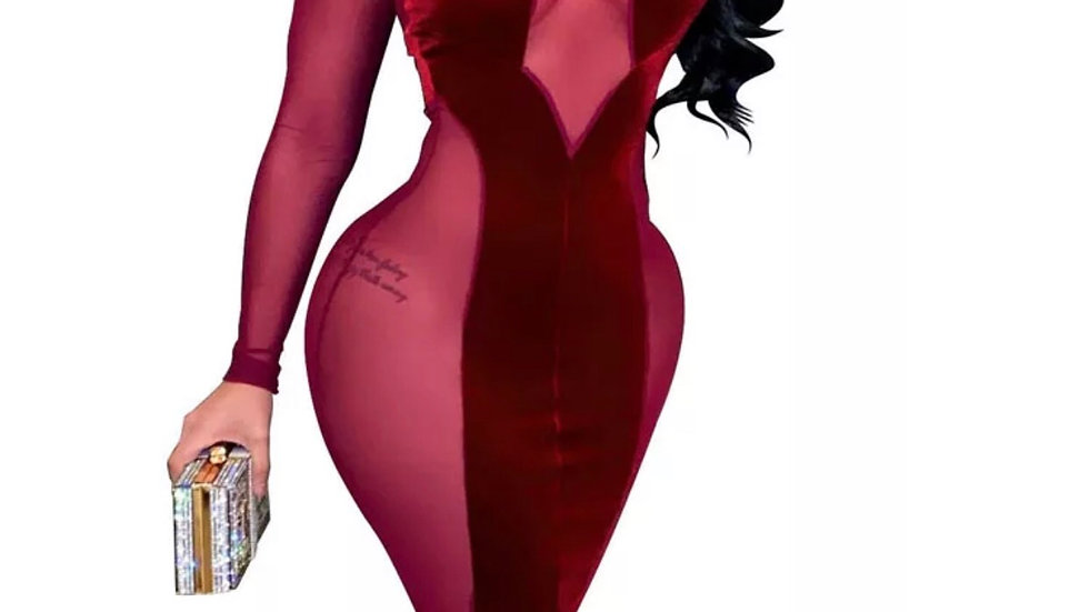 Sincere Velvet Dress