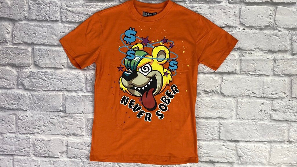"""Never Sober""Orange  (Men)"