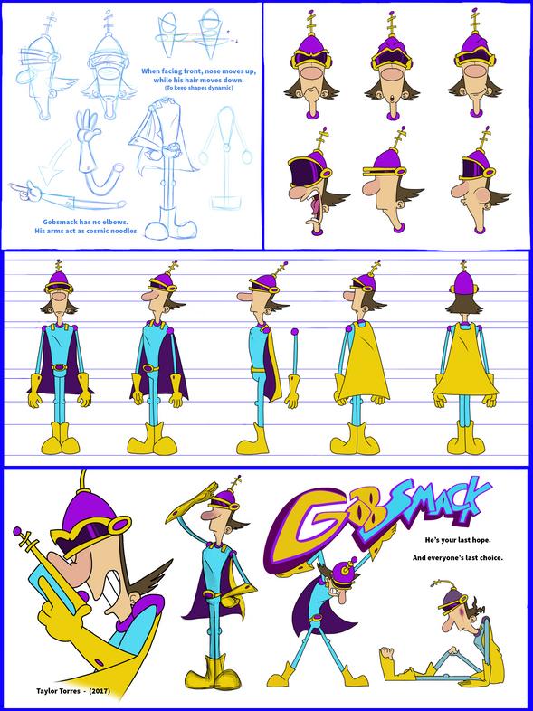 """""""Gobsmack"""" Model sheet"""
