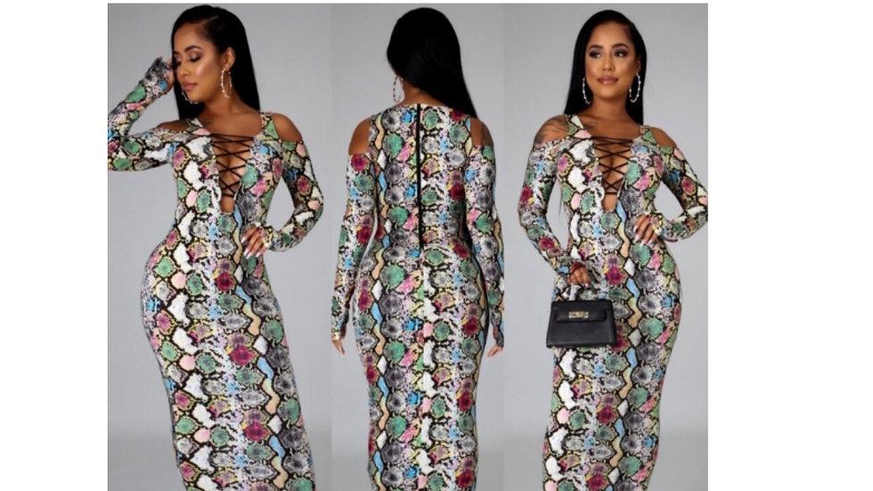 Sneak print dress