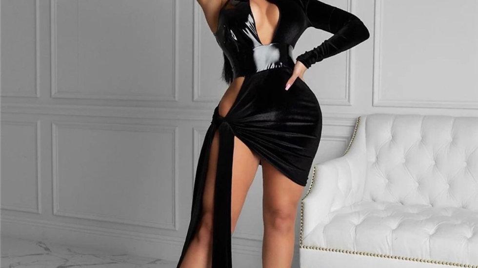 Hazel Velvet Dress